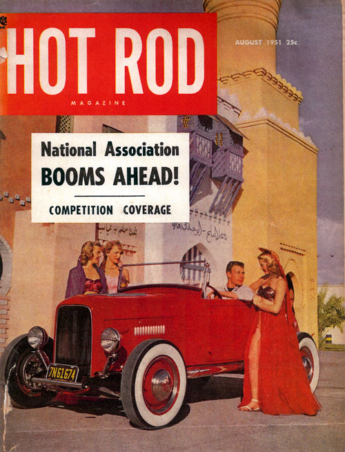 Hot Rod Magazine cover August 1951