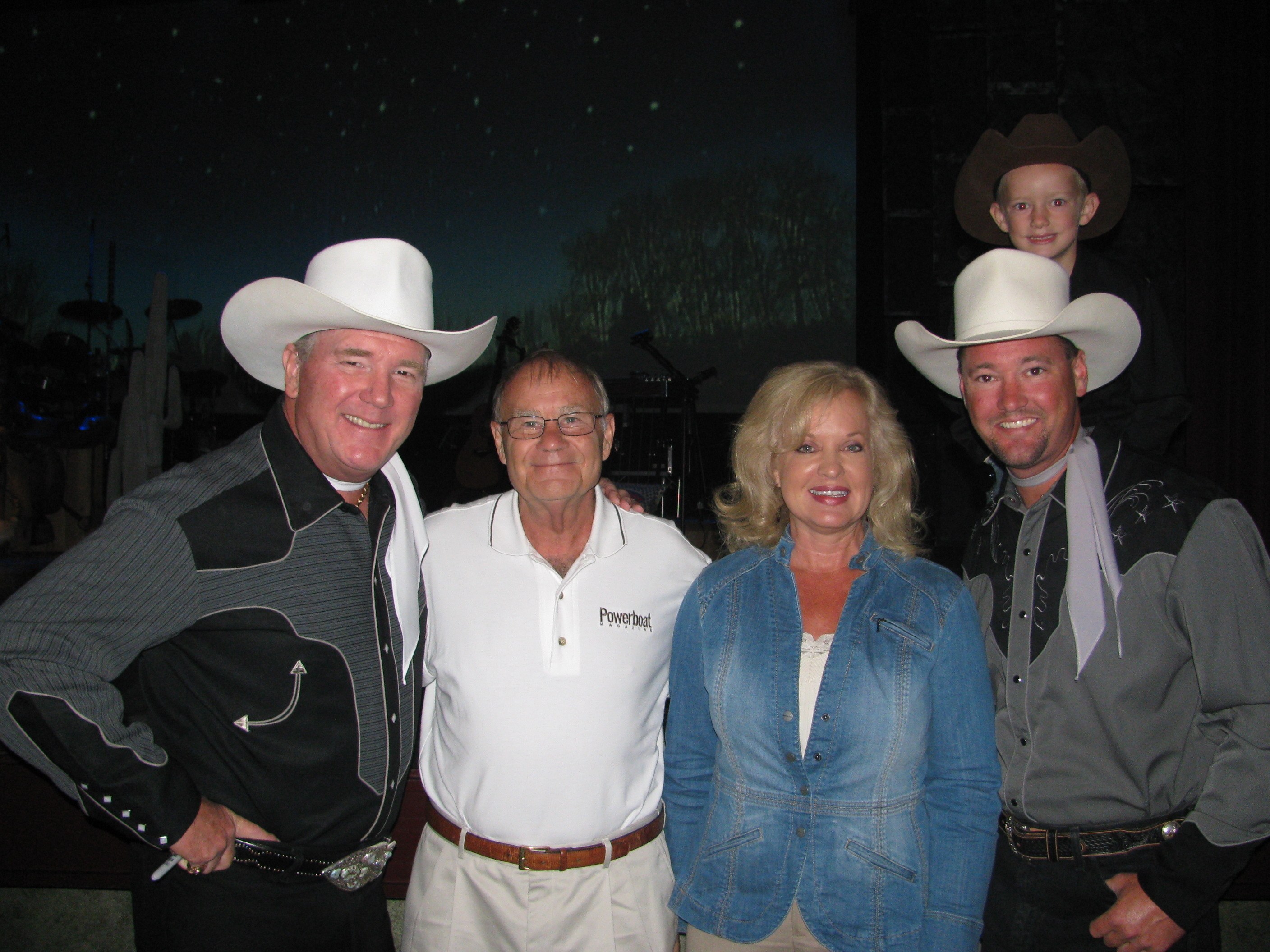 Jerry and Gail with Roger Rogers Jr and Dusty Rogers