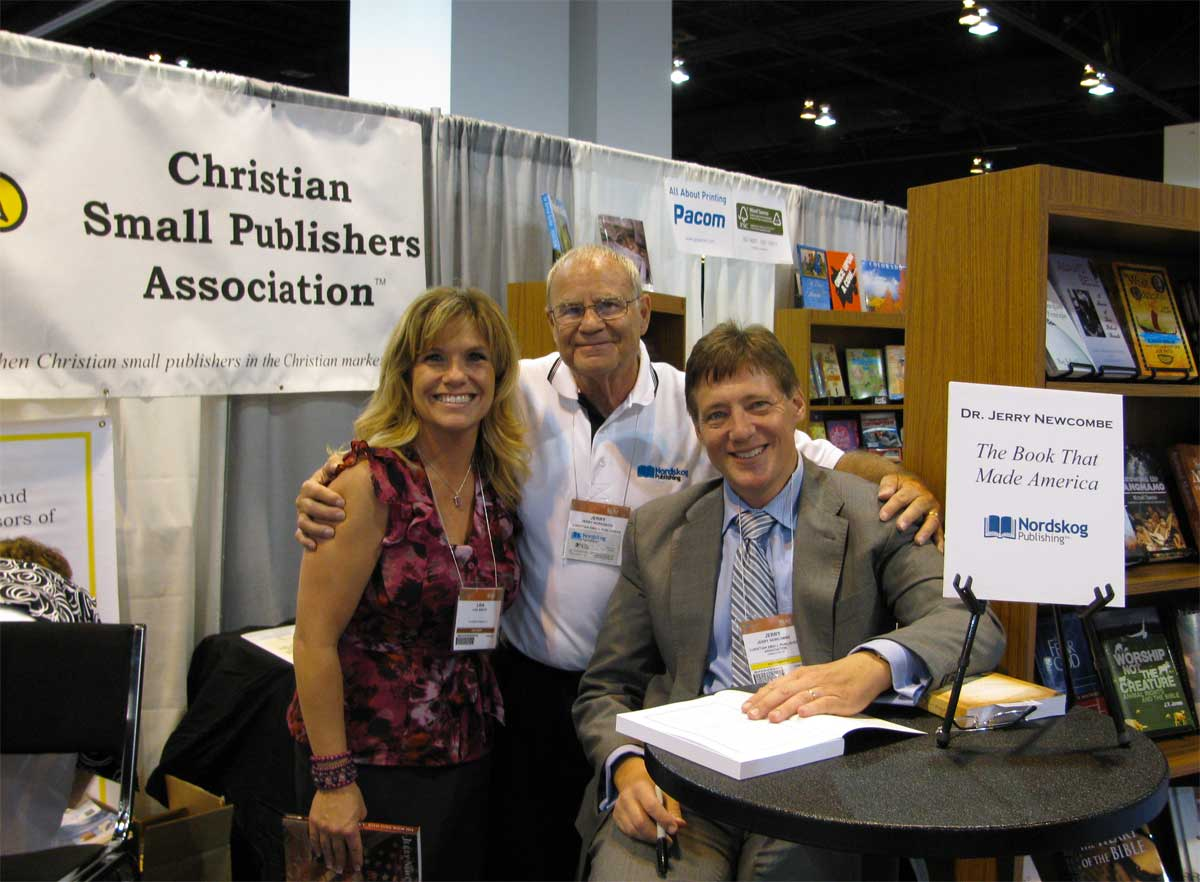 Jerry with Lisa Beech & Jerry Newcombe at ICRS 2009