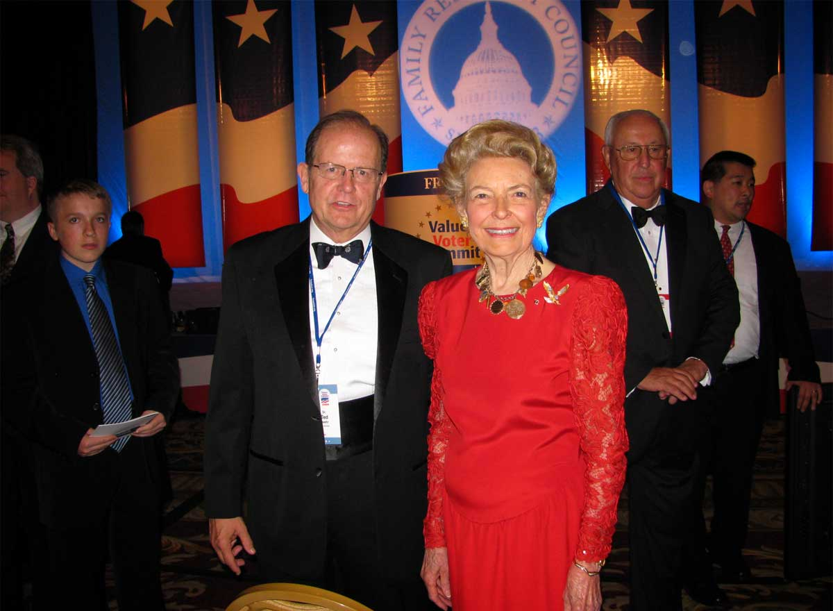 Ted Baehr with Phyllis Schafly