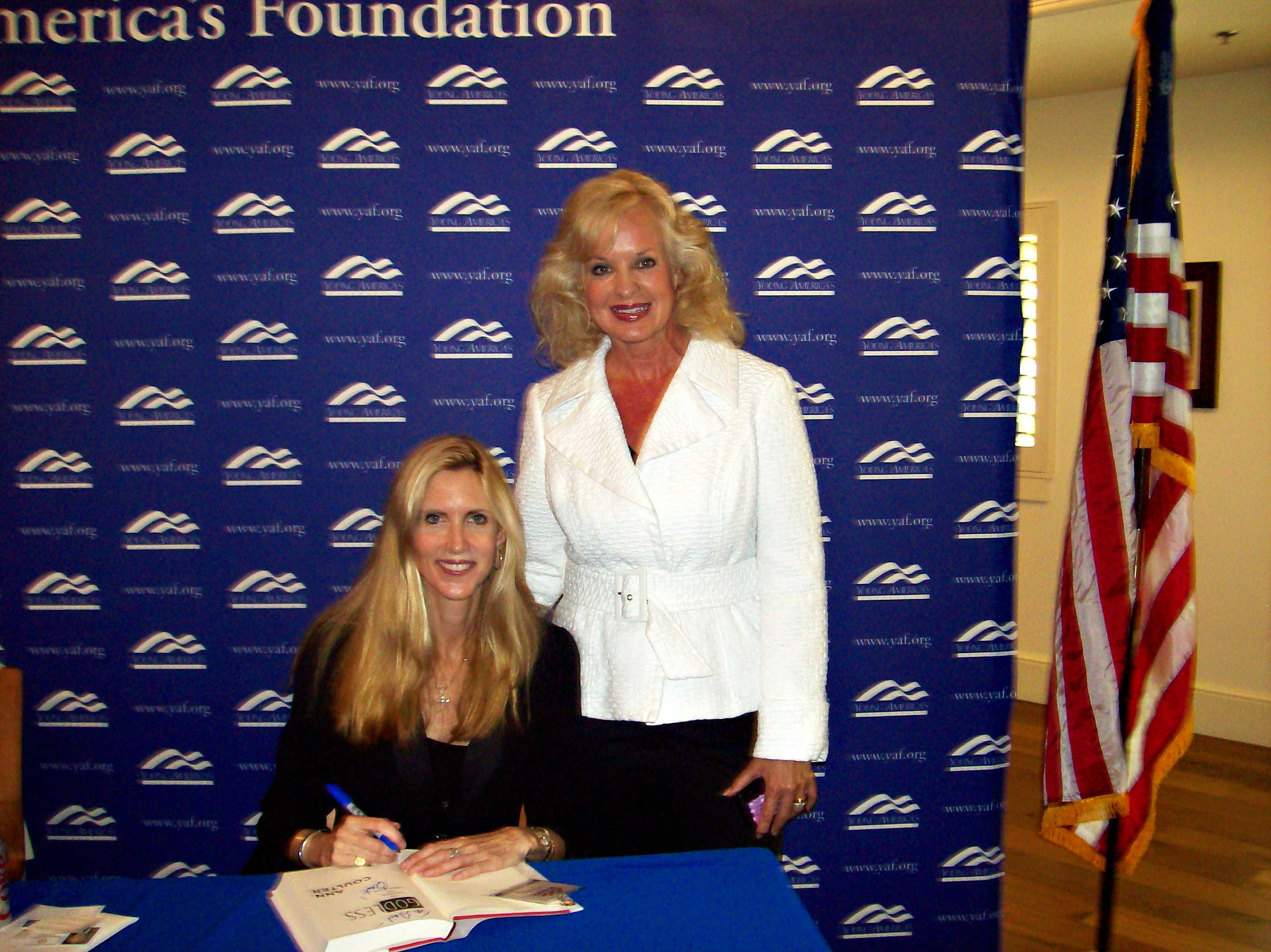 Gail with Ann Coulter