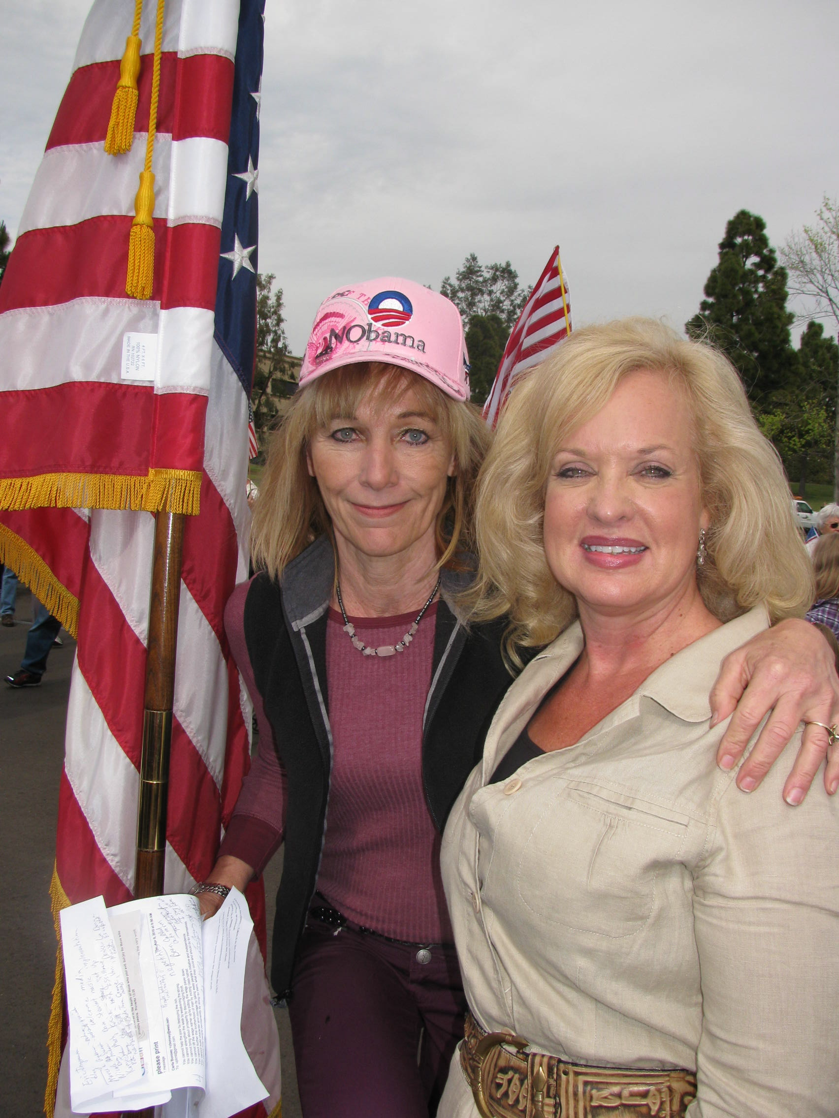 Ventura County Tea Party president, Carla Bonney, with Gail