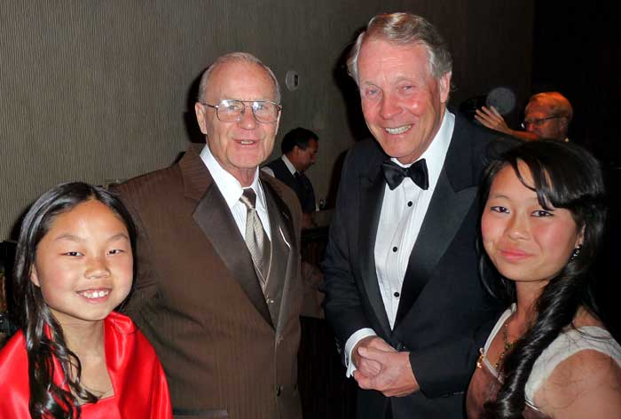 Jerry & girls with David Mainse