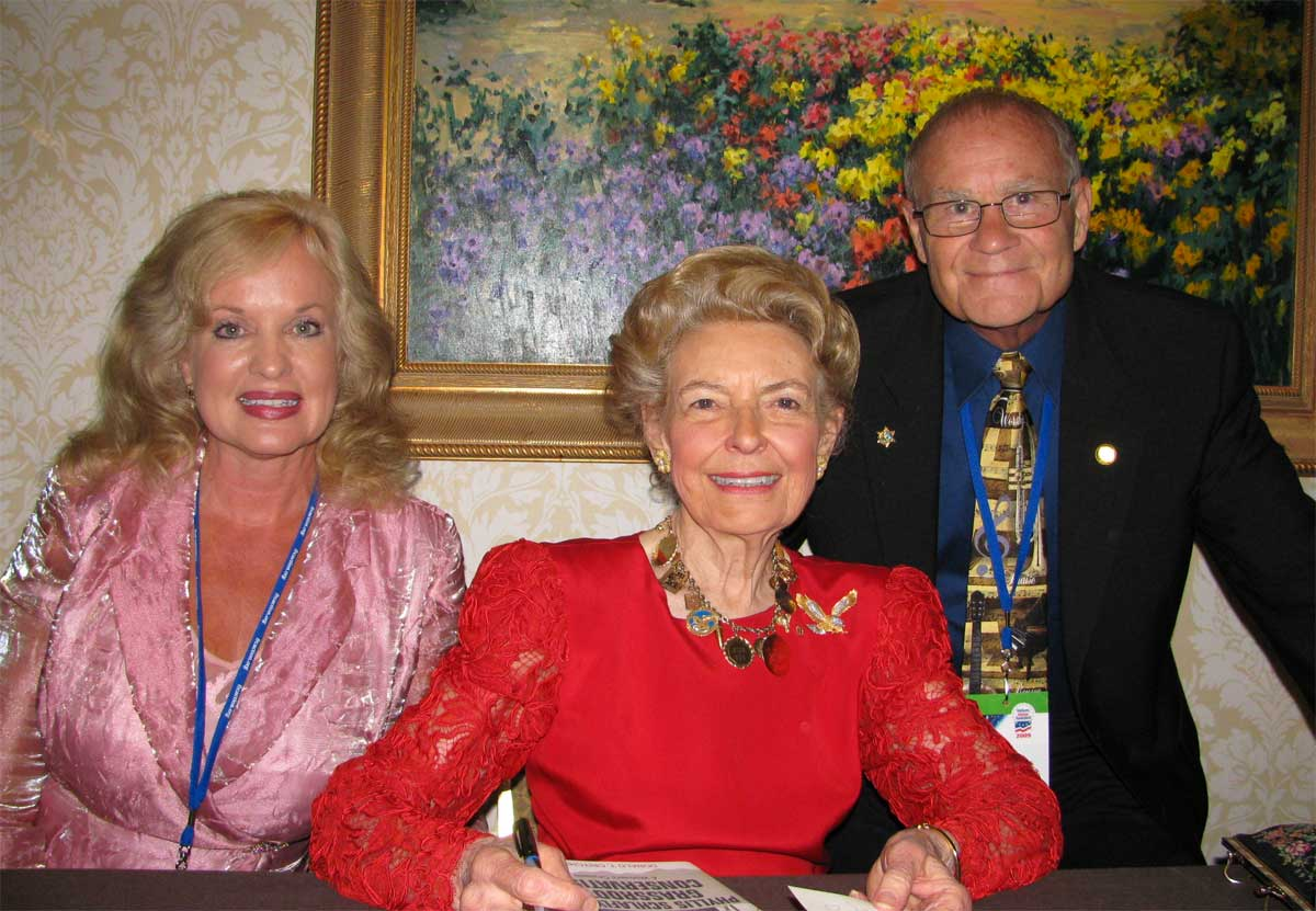 Jerry and Gail with Phyllis Schafly, founder and president of Eagle Forum