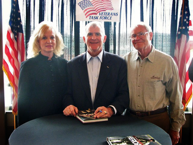 Gail and Jerry Nordskog with Lt. Col. Ollie North
